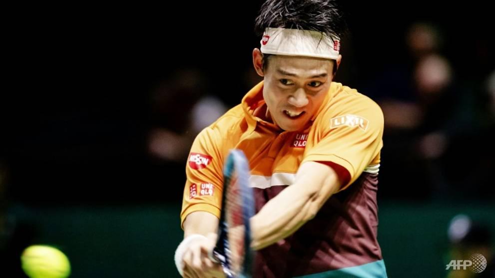 Tennis: Nishikori eases into Rotterdam quarter-finals