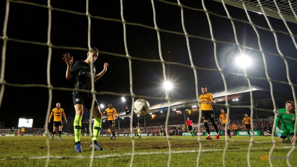 Football: Man City end Newport's Cup dream to reach quarter-finals
