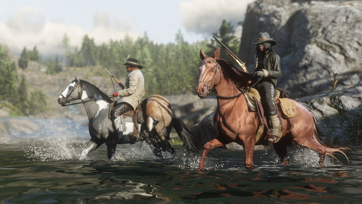 Red Dead Online gets competitive fishing, gold armor gunfight in next update