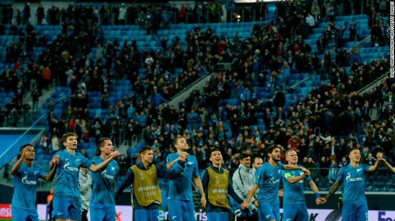 Europa League: Zenit St. Petersburg's fiery welcome