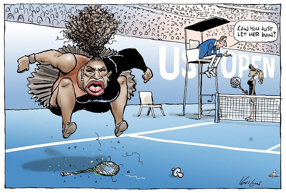 'Racist' Serena Williams cartoon given Australian all-clear