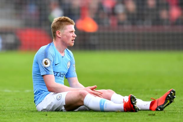 Soccer-Man City's De Bruyne set for spell out with hamstring problem