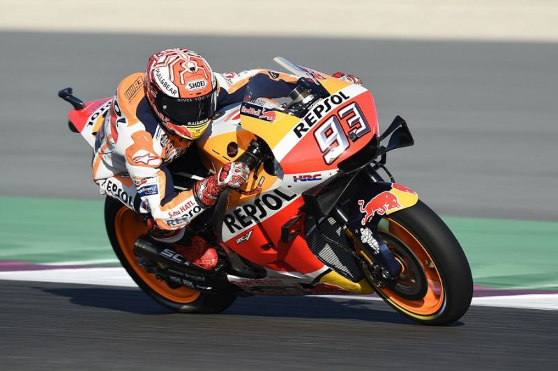 MotoGP Qatar: Marquez tops third practice while Lorenzo crashes out