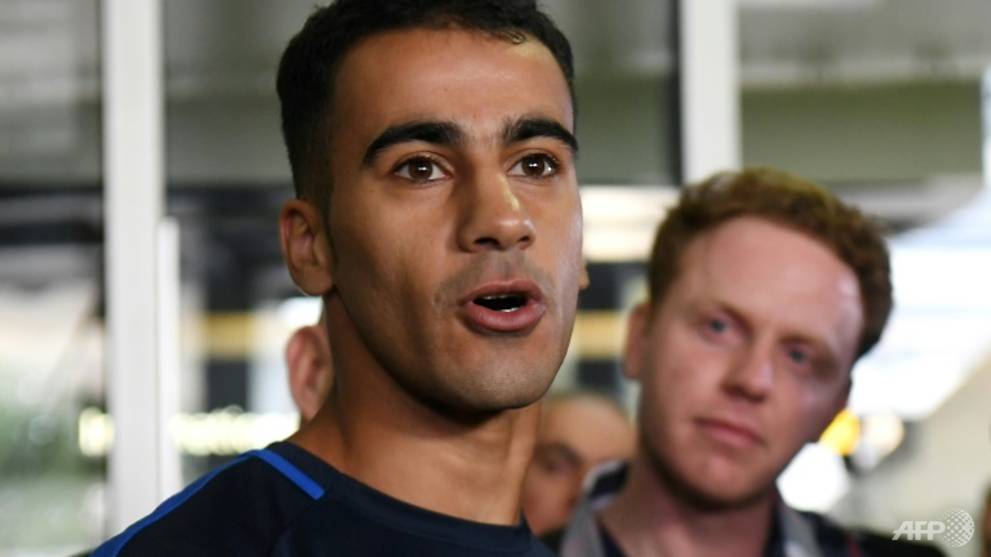 Refugee footballer becomes Australian citizen after Thai-Bahrain ordeal