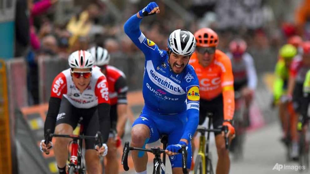 Cycling: Alaphilippe sprints to Tirreno-Adriatico sixth stage win