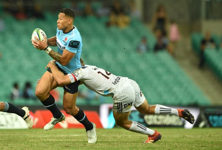 Folau equals try record as Crusaders win streak ends