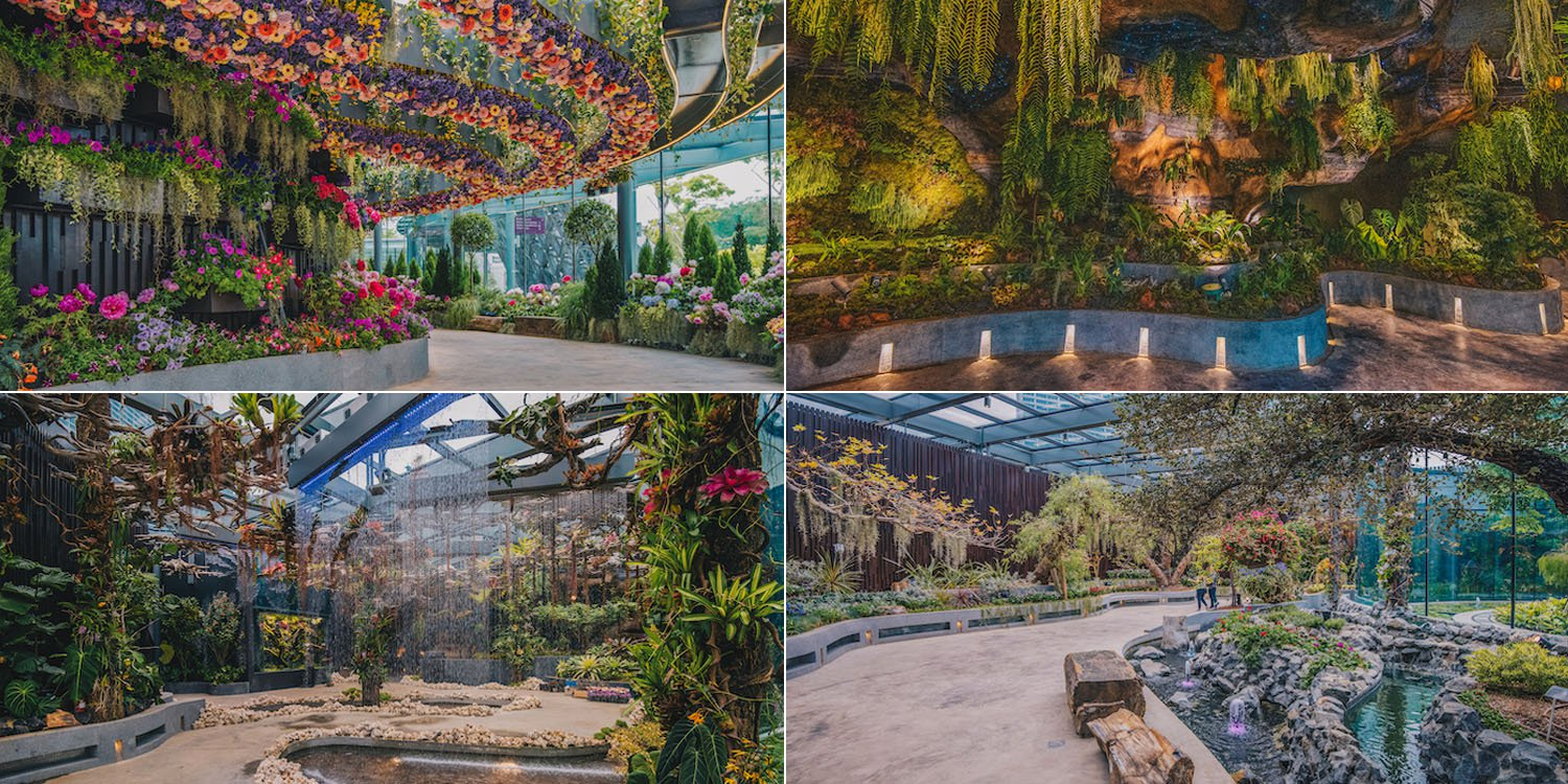 Gardens by the Bay's new plaza has a bubbling brook & stunning cave opening on 14 Apr