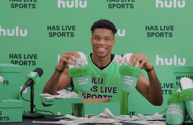 Giannis Has New Slippers, Hulu Has Live Sports
