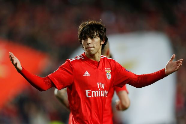 Benfica teenager Joao Felix nets treble in 4-2 Eintracht win