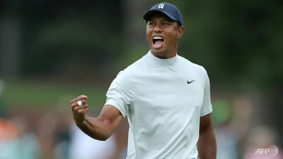 Golf: Tiger stalks stellar leading group in Masters 3rd round