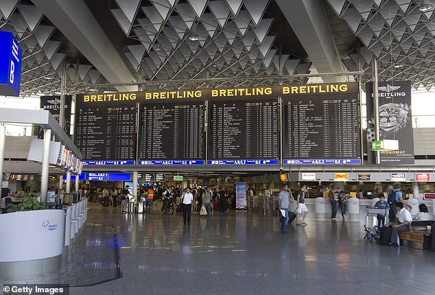 Frankfurt Airport closes for an hour after drone is spotted near the runway... adding to flight chaos caused by French air traffic control strike
