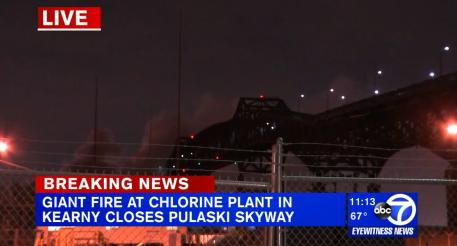 快讯!美国纽约市附近一化工厂起火