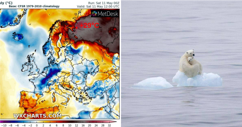 Area near Arctic Circle hit 29°C in May 2019