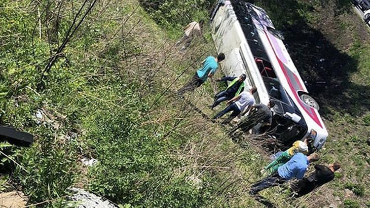 俄罗斯旅游大巴发生交通事故 致中国公民2死19伤