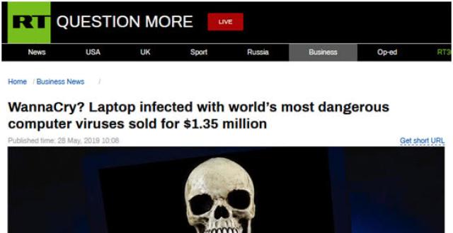 一台电脑卖135万!因其感染6种世上最危险病毒