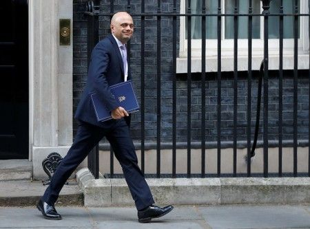 UK's javid says would order 'no-deal budget' if prime minister