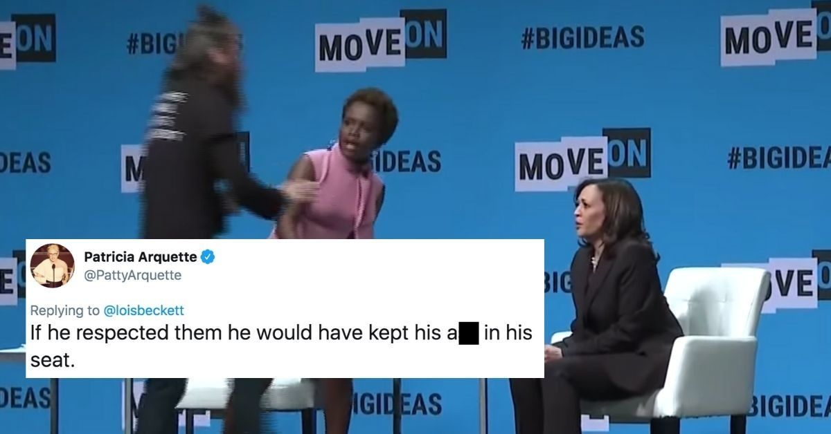 Animal Rights Activist Slammed After Grabbing Microphone Out Of Kamala Harris' Hands During Event