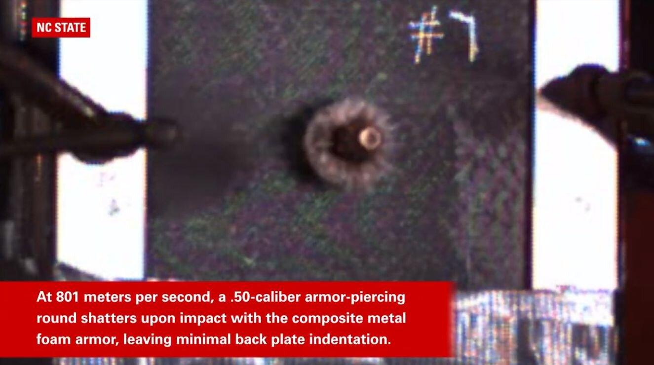 美国科学家发明防弹金属泡沫材料