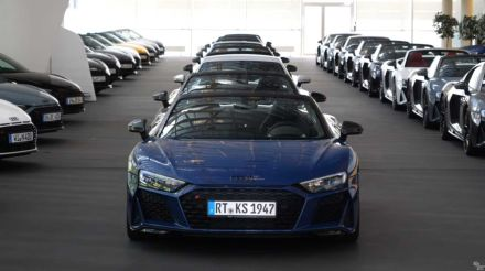 38 Audi R8s delivered at once to show the V10 is very much alive