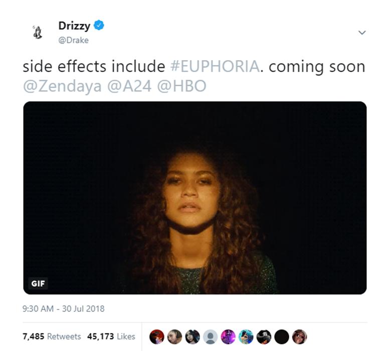 "Why You Should Watch Zendaya And Drake's New Show, ""Euphoria"""