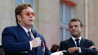 Elton John awarded France's highest civilian award Legion d'Honneur