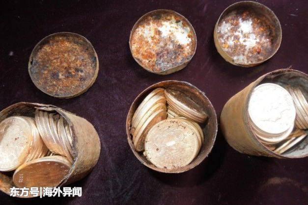 美国一夫妻在自己家后院遛狗,意外发现价值千万的古币!