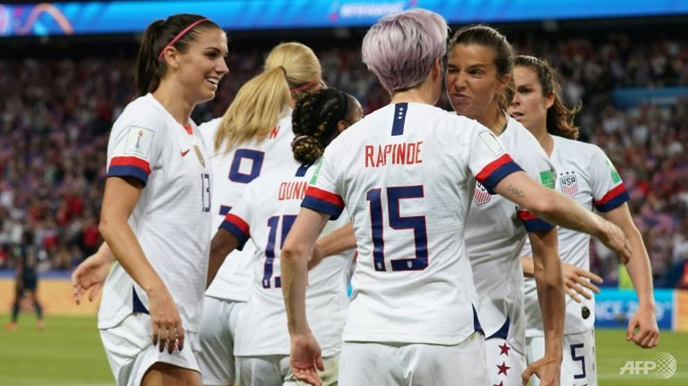 Rapinoe shows pride after coming up Trumps in World Cup thriller