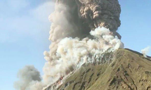 Stromboli volcano: Shocking webcam video shows moment 'massive bomb' erupts