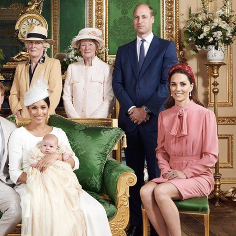 Kate Middleton Channels Blair Waldorf in a Pink Dress and Headband at Archie's Christening