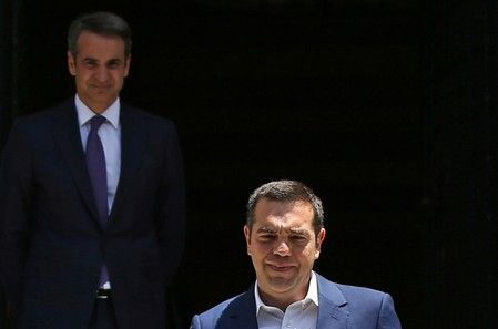 New greek prime minister mitsotakis takes over, tsipras bows out
