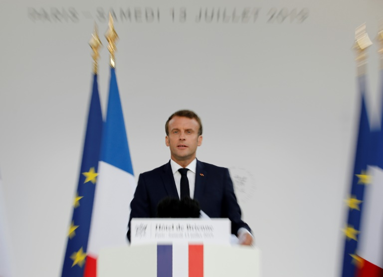 France's Macron announces creation of a space force command