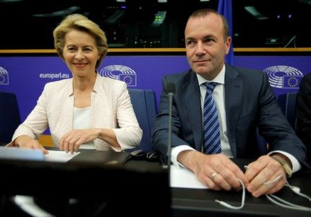 Germany's weber urges eu lawmakers to back von der leyen in top job vote