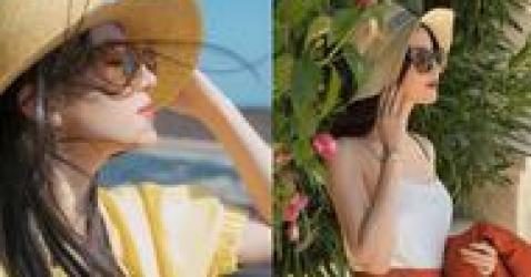 刘亦菲又一次演绎夏日风情,草帽配西装美成女神范,果然明媚动人