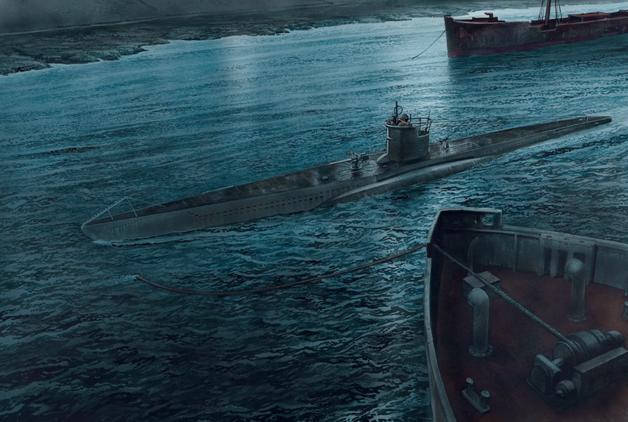 史上最惊险的偷袭,德军潜艇潜入英军锚地,险被出租车大灯发现