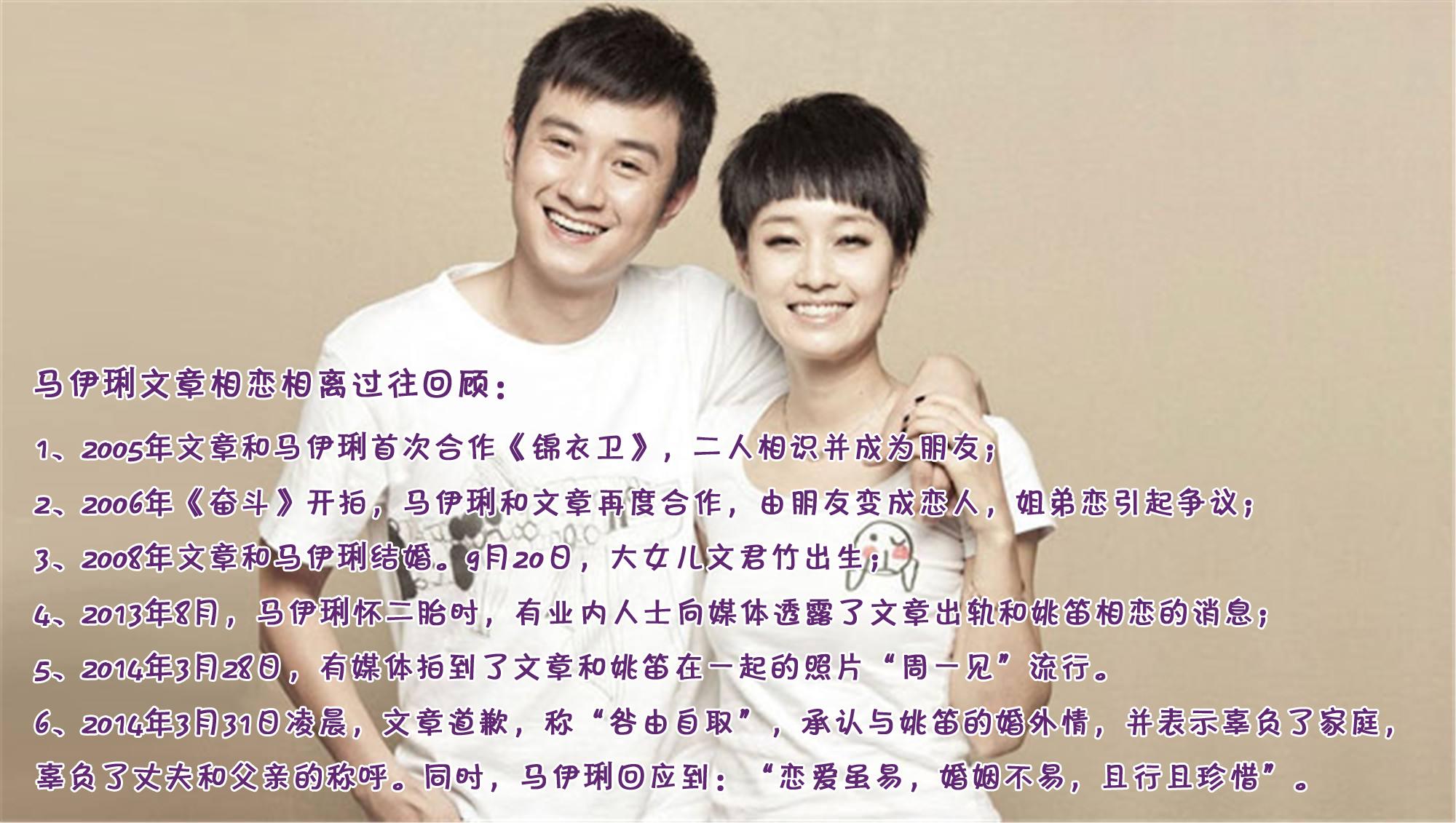 文章马伊琍宣布结束11年婚姻 昔日恩爱令人唏嘘