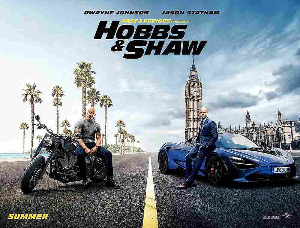 'Hobbs & Shaw' tops box office with US$60m