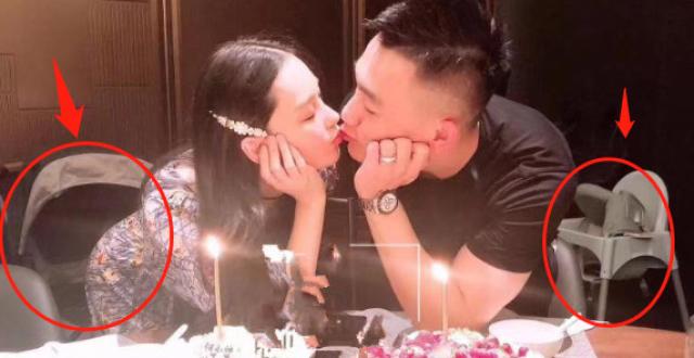 张馨予为丈夫何捷庆生,结婚一周年甜蜜亲吻,身后婴儿床抢镜