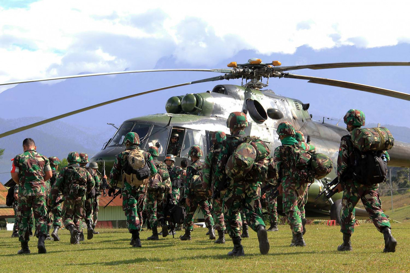 Military locate base of armed criminal group operating in Papua's Intan Jaya