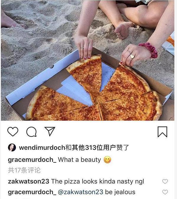 邓文迪宠女儿放弃原则,格蕾丝吃超大披萨不顾身材邓文迪点赞