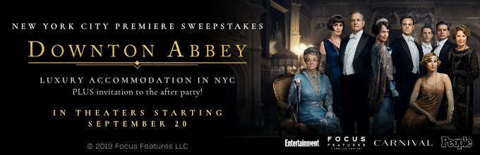 The Downton Abbey New York City premiere sweepstakes official rules