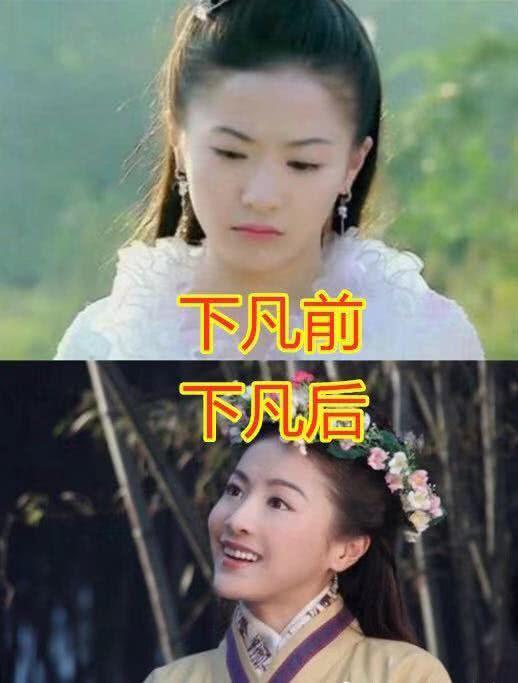 4个版本七仙女下凡前后,黄圣依版VS贡米版,看到林依晨恋爱了