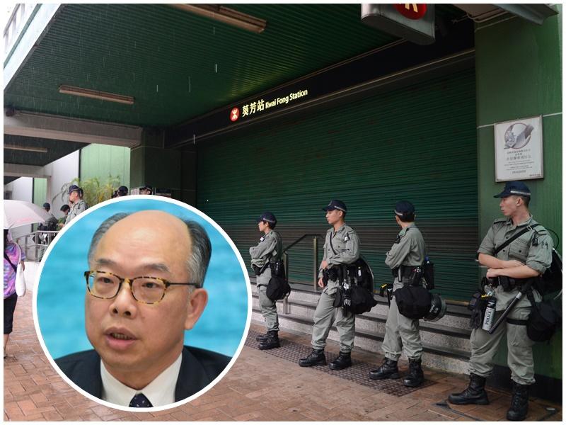 【逃犯条例】陈帆:港铁关闭车站逼不得已 与《人民日报》评论无关
