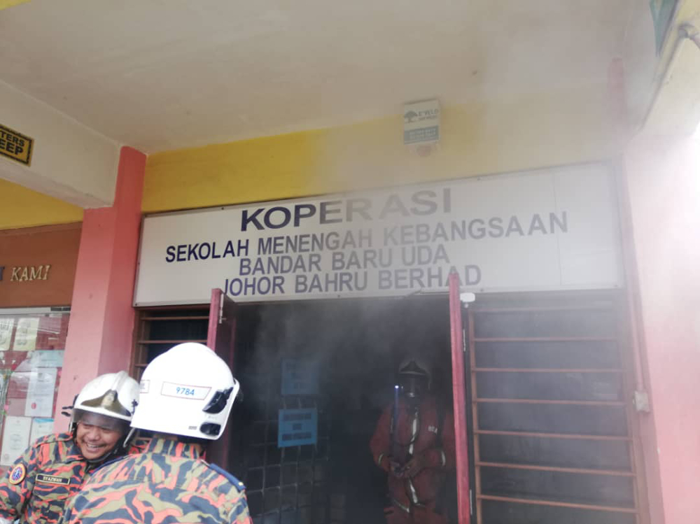 Five students suffer breathing difficulties in fire incident in Johor