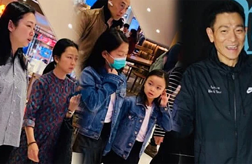 End of Summer Vacation: Andy Lau Spotted at Airport with Wife and Daughter