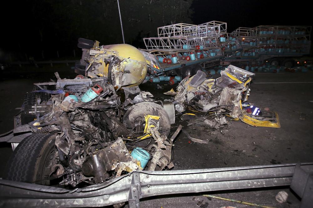Negri Sembilan police name victims of horror crash along North-South Expressway, including Good Samaritan lorry driver