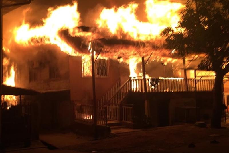 Fire destroys 60 houses in Tawau