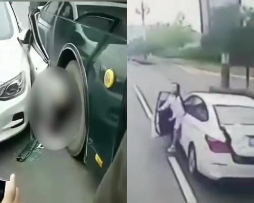 突开门下车身后巴士驶来 女司机被夹在两车间亡