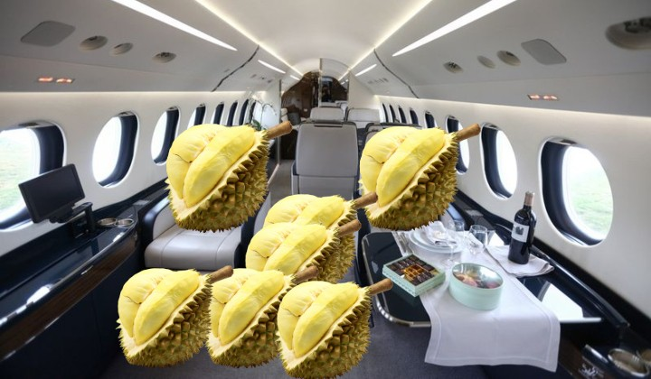 M'sian durians just flew private jet style to China from Sepang