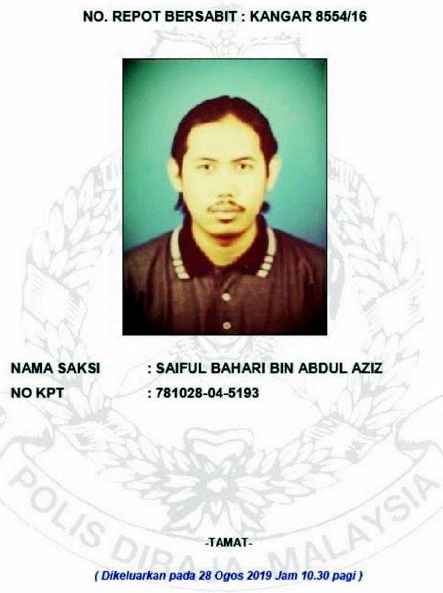 Cops seek Saiful Bahari's help over missing activist Amri's case