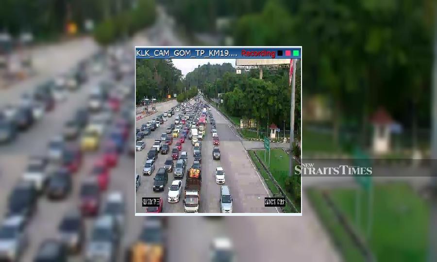 Slow traffic at several highways